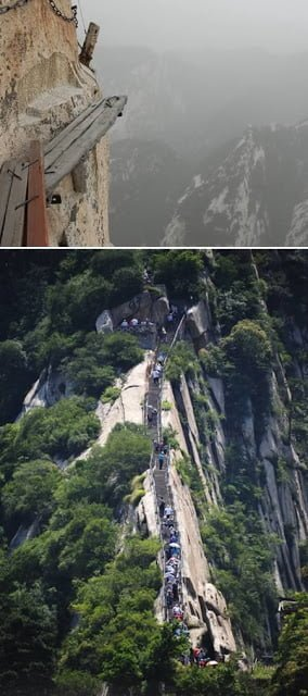 Huashan Cliffside Path, China,  Hindi, History, Story, Information, Jankari, Itihas, Dangeroys, Amazing,