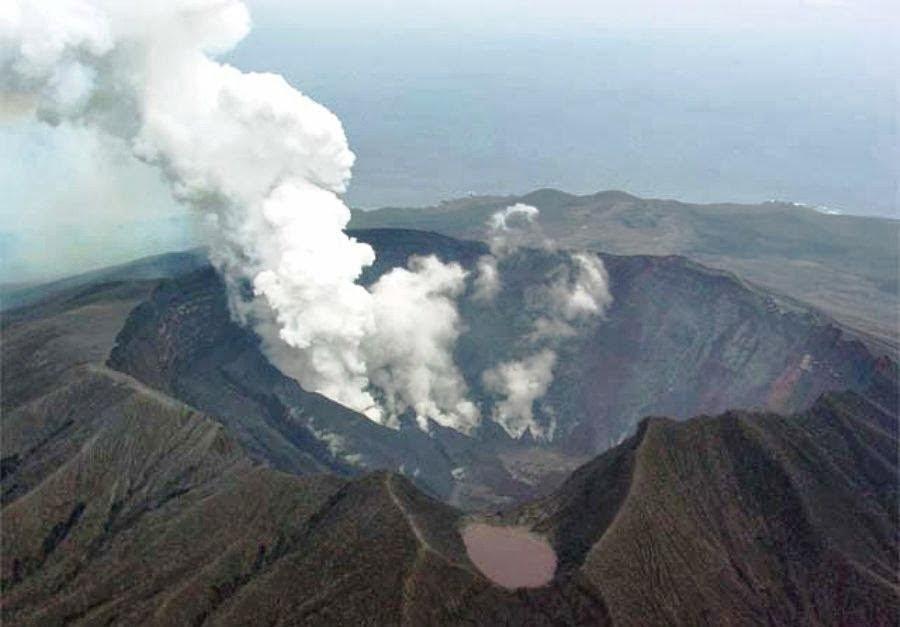 Mount Oyama Volcano at Miakejima island