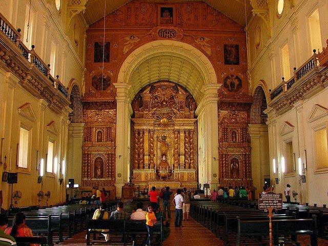 Interior of Basilica of Bom Jesus - Old Goa