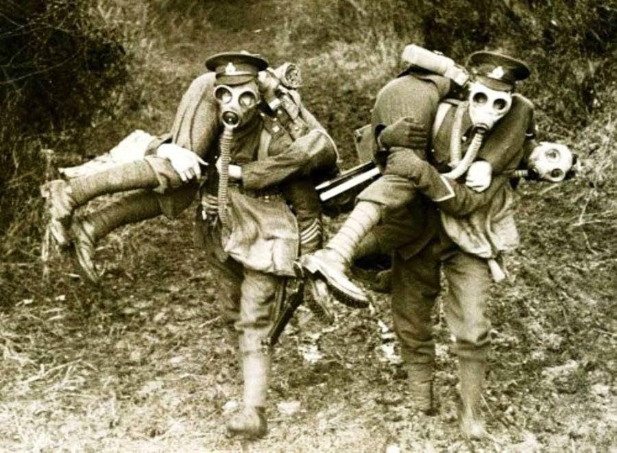 Gas mask tourism