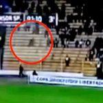 फुटबॉल मैच में दर्शकों के बीच कैमरे में कैद हुआ एक भूत ! वीडियो इंटरनेट पर हुआ वायरल।