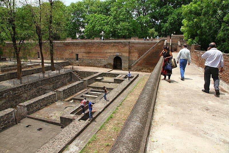 Shaniwar Wada palace walls and ruins below