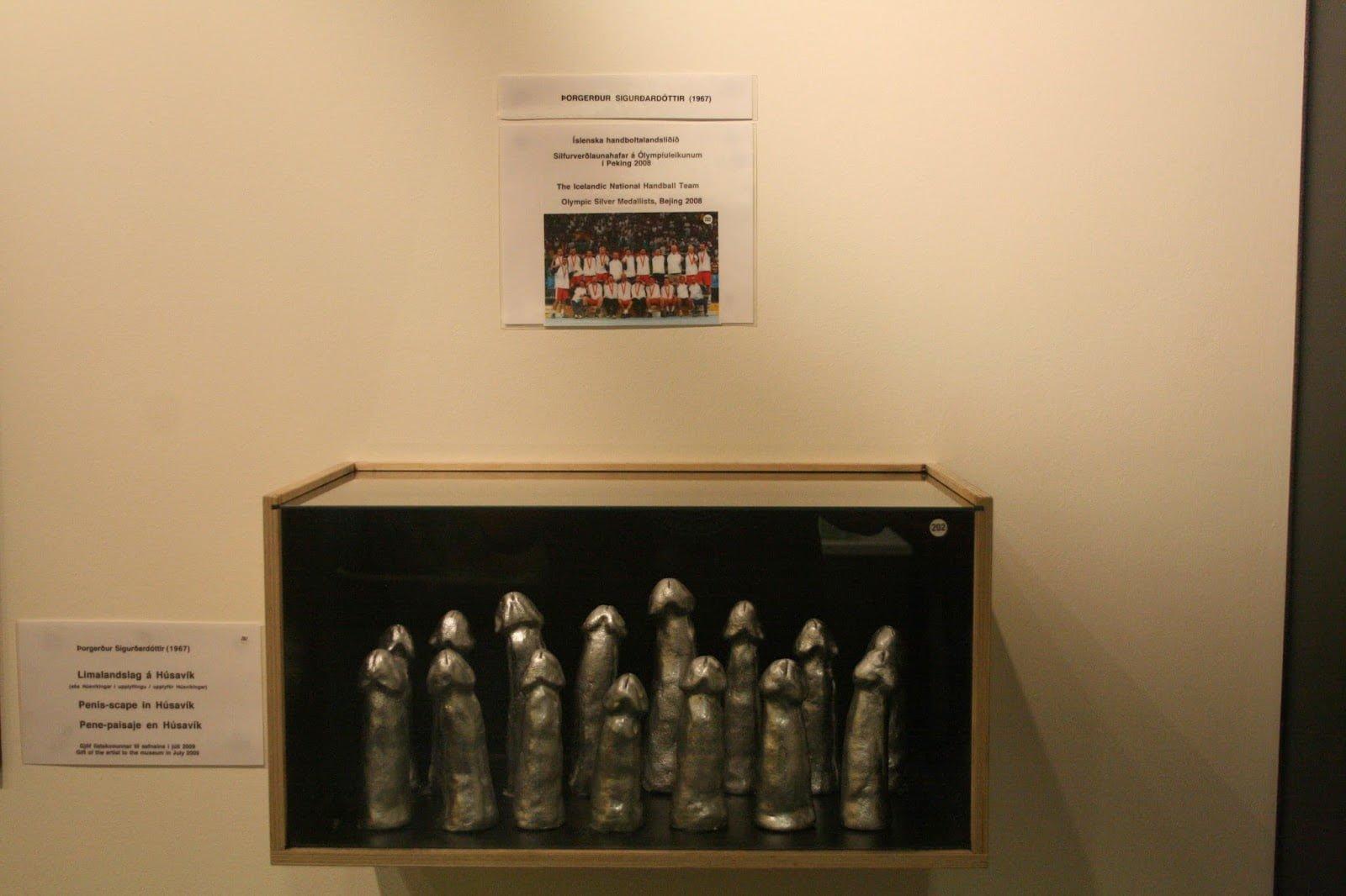 Sculptures in honor of the 2008 Silver Medal-winning Icelandic handball team