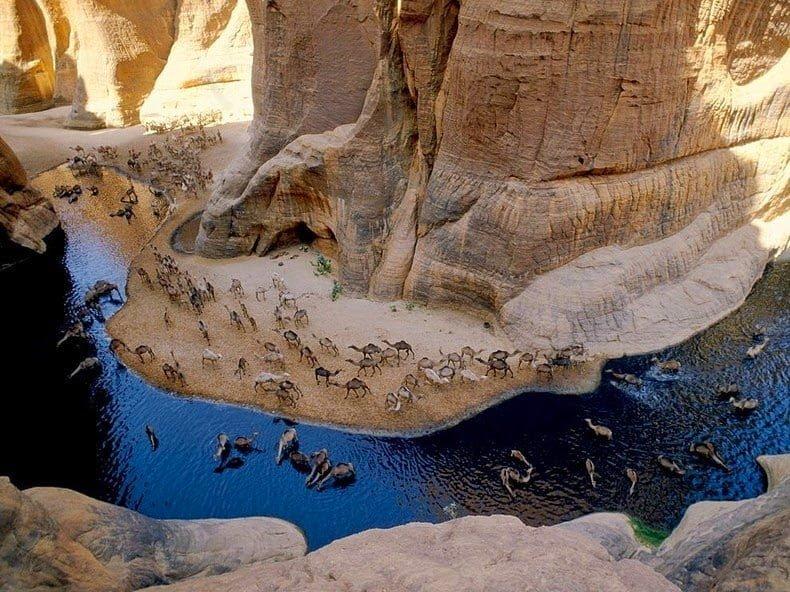 Guleta d'Archei - A geological miracle - A lake in the Sahara Desert