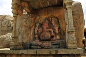 Single-stone Sculpture of Lord Ganesha