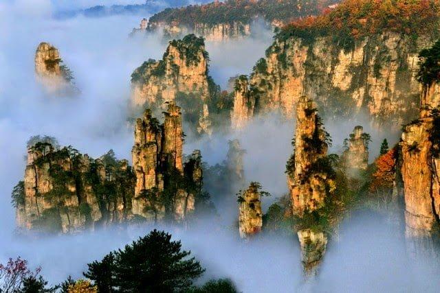 Tianzi Mountains China Facts in Hindi