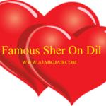 Famous Sher on Dil Part – 5  (दिल के ऊपर प्रसिद्ध शेर भाग – 5)