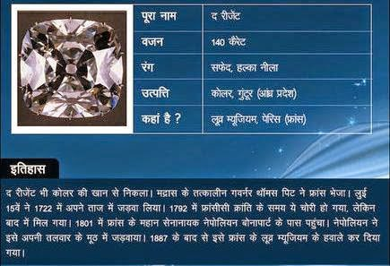 Regent diamond Story & History in Hindi