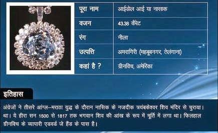 Idol eye diamond Story & History in Hindi