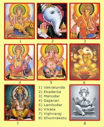Hindi Story of 8 Incarnation of lord Ganesha , Bhagwan Ganesh ke 8 Avtar