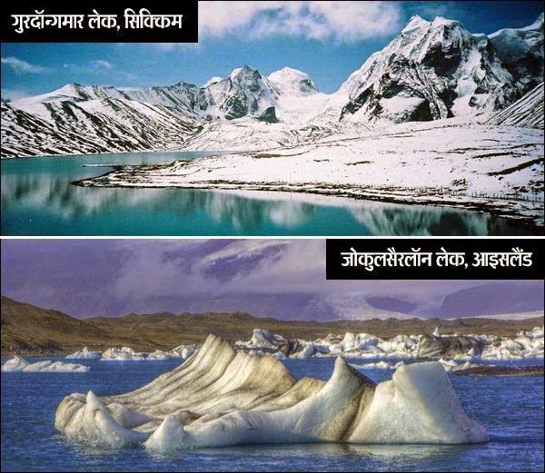 Gurudongmar lake and Jokulsarlon lake History in Hindi