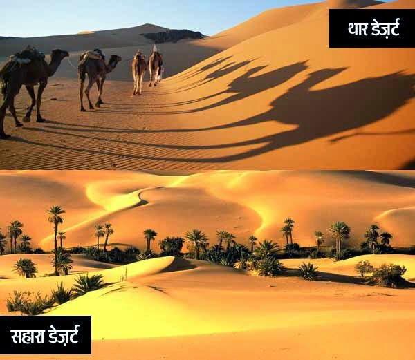 Thar, Rajasthan and Sahara desert, Africa Information, History & Story in Hindi