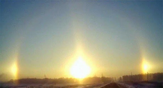 Sun dog effect, Phantom sun, Three Sun in Sky, in Hindi, Amazing, Bizarre,