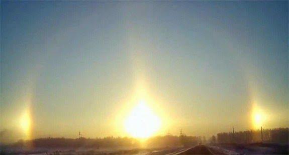 Sun dog effect, Phantom sun, Three Sun in Sky, in Hindi, Amazing, Bizarre,