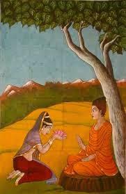 Amrapali and Lord Buddha