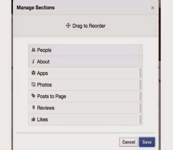 Reorder your page sections