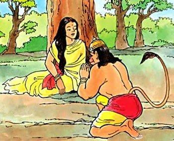 Hanuman and Mata Sita