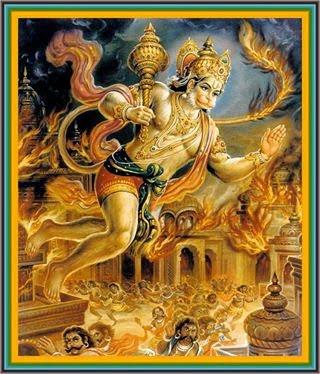 Hanuman and Lanka Dahan