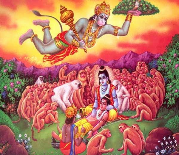 Hanuman with Sanjivini buti