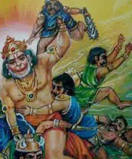 Hanuman and Danav