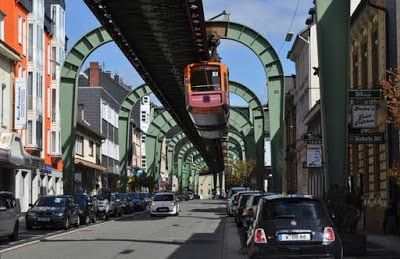 The Amazing Hanging Train of Germany