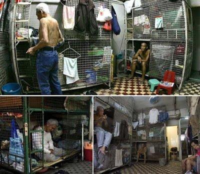 Hong Kong poor people living in metal cages - Hindi Information