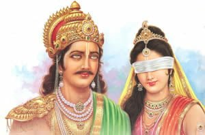 When and why Gandhari removed bandage from eyes