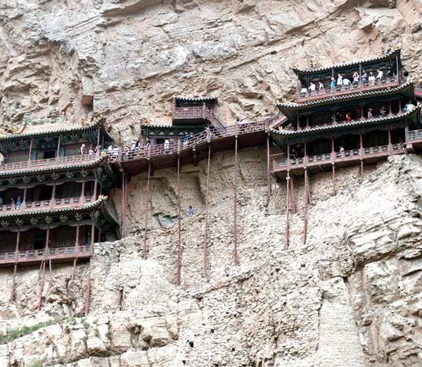 Hanging Monastery of Hengshan Mountain in China , Hindi History
