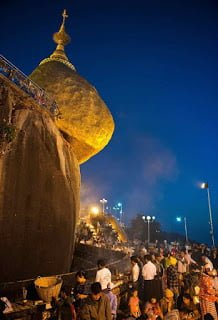 The Golden Rock Kyaiktiyo Pagoda Burma History in Hindi