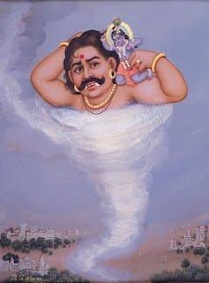 Trinavarta Vadh,  Hindi, Story, Kahani, Katha, Information, Jankari,