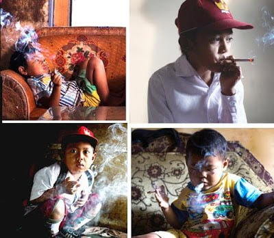Young Children Addicted To Cigarettes In Indonesia