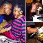 चीन का श्रवण कुमार- दोनों हाथ नहीं फिर भी लकवा ग्रस्त माँ की दिलोजान से करता है सेवा