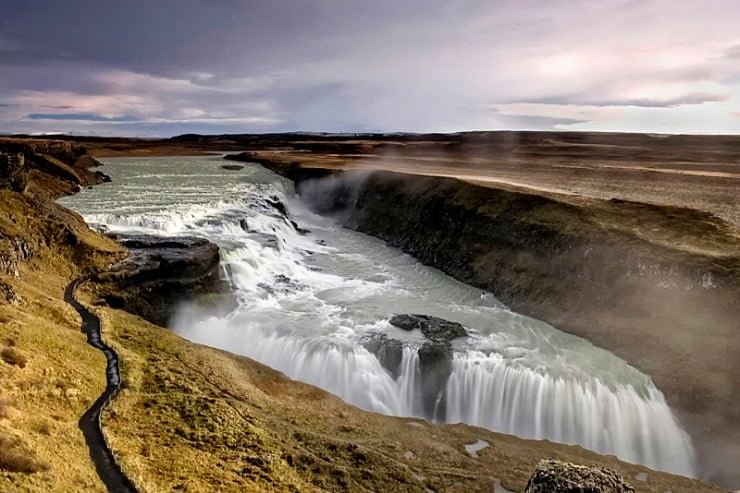 Gullfoss , Golden Waterfall, Iceland,  Hindi, Information, Jankari, History, Story, Itihas,