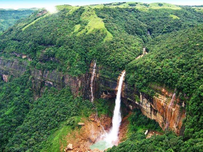 Nohkalikai Waterfall, India, Hindi, Information, Jankari, History, Story, Itihas,