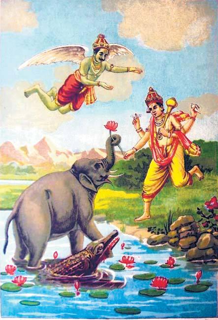 Gajendra Moksha, Hindi, Story, Kahani, Katha,