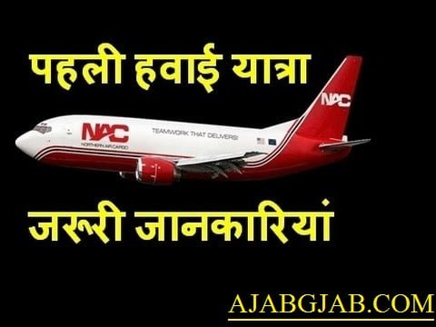 Air Travel Tips For First Time in Hindi