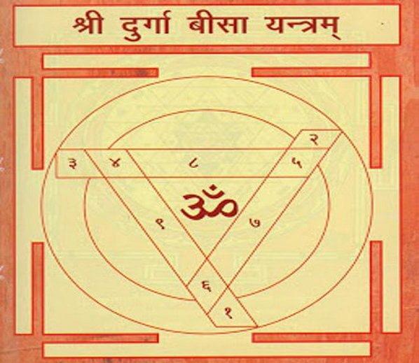 Durga Bisa Yantra, Hindi, Mantra,