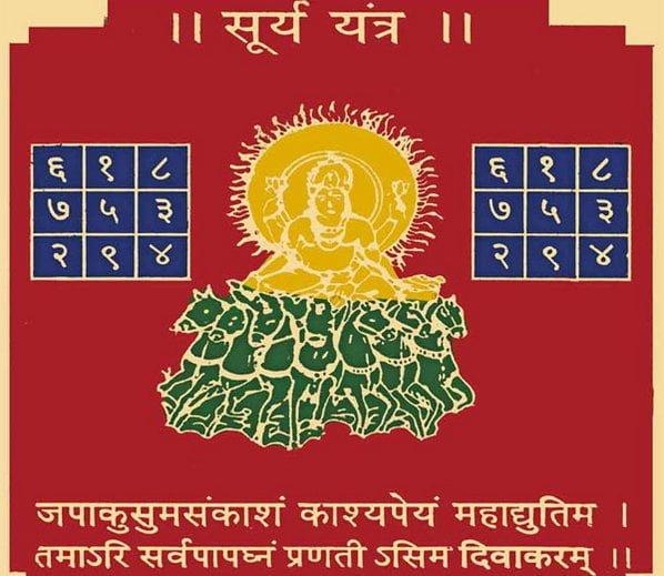 Surya Yantra, Hindi, Mantra,