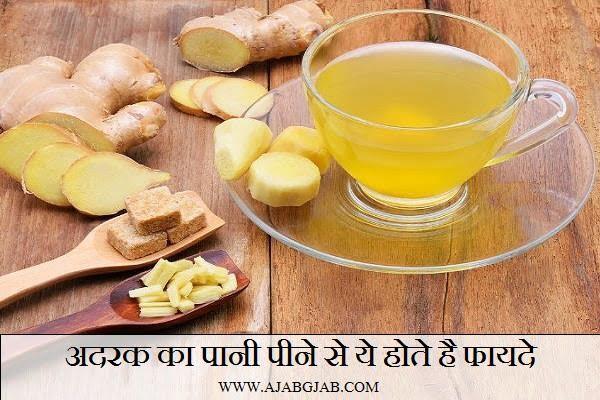 Health Benefits Of Ginger Water (Adrak Pani Ke Fayde), Hindi