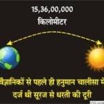 सदियों पहले ही हनुमान चालीसा में दर्ज थी सूरज से धरती की दूरी