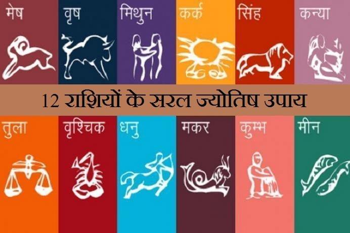 Jyotish Upay For 12 Rashis , 12 राशियों के सरल ज्योतिष उपाय, Astrological Measures for 12 Zodiac,