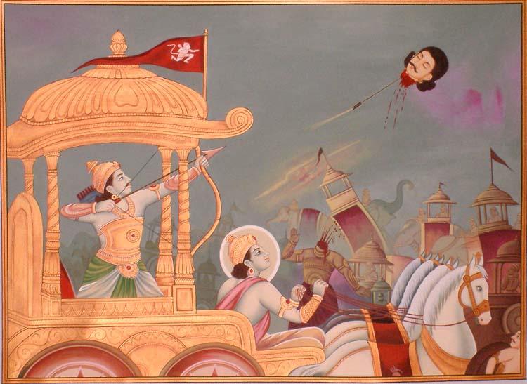 Jayadratha Story in Hindi, Arjuna Kills Jayadratha, Hindi, Kahani, Katha, Mahabharat, Itihas, Dropdi, Kidnaps, कहानी जयद्रथ कि,