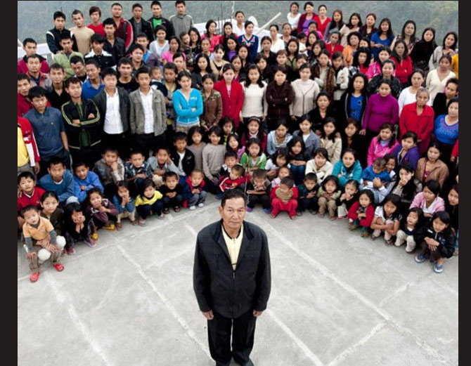 World Biggest Family, Chana Family in Mizoram, India, Hindi, Information, Kahani, History, Story, Jankari, Guinness Book of \World Record,