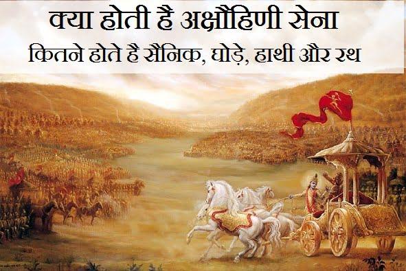 Akshauhini Sena in Mahabharat, How much is one Akshauhini?, Hindi, Information, Jankari,