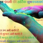Rang Panchami Wishes In Hindi