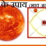 सूर्य के उपाय (भाव अनुसार) | Surya Ke Upay (Bhav Anusar)