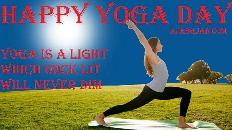Happy Yoga Day Wallpaper