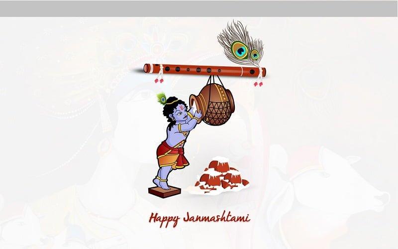Happy Janmashtami HD Wallpaper