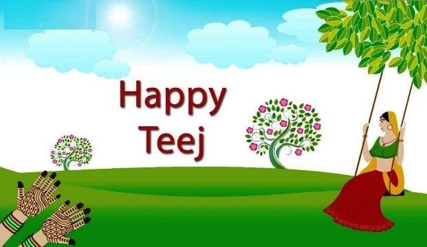 Happy Teej HD Wallpaper