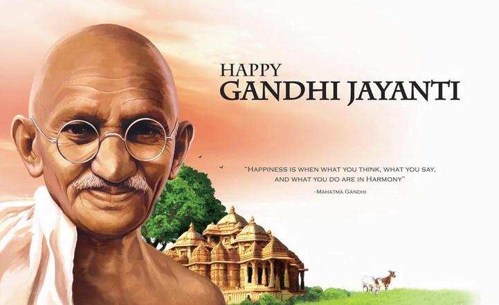 Happy Gandhi Jayanti 2019 Hd Wallpaper